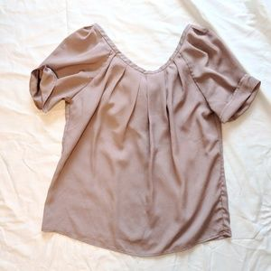 Mauve Low Back with Bow Tee